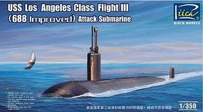 Riich USS LA Class Flight III 688 Attack Sub Plastic Model Military Ship Kit 1/350 #28007