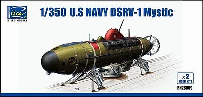 Riich USN DSRV-1 Mystic Deep Submergence Rescue Plastic Model Military Ship Kit 1/350 #28009