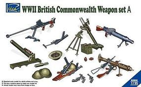 Riich WWII British Commonwealth Weapon Set A Plastic Model Weapon Set 1/35 Scale #30010