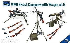 Riich WWII British Commonwealth Weapon Set B Plastic Model Weapon Set 1/35 Scale #30011