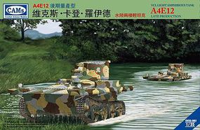 Riich A4E12 VCL Light Amphibious Tank (Late) Plastic Model Military Vehicle Kit 1/35 Scale #35002