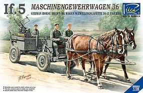 Riich German If5 Horse Drawn MG Wagon Plastic Model Military Vehicle Kit 1/35 Scale #35012