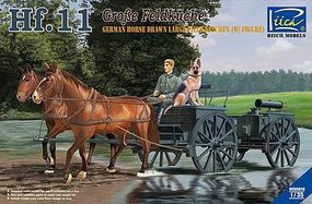 Riich German Hf11 Horse Drawn Large Field Kitchen Plastic Model Military Vehicle Kit 1/35 #35013