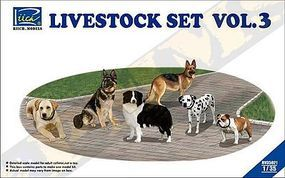 Riich 1/35 Livestock Set- Dogs (6)