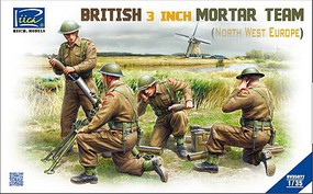 Riich 1/35 British 3-Inch Mortar Team North West Europe (4) (New Tool)