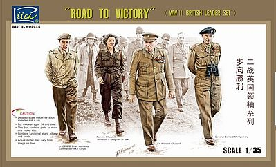 Riich Road to Victory WWII British Leaders Figure Set 4 Plastic Model Military Figure 1/35 #35023