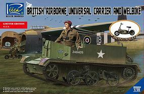 Riich British Airborne Universal Carrier Mk III Plastic Model Military Vehicle Kit 1/35 #35034