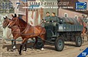 Riich German HF7 Horse Drawn Steel Field Wagon Plastic Model Military Vehicle Kit 1/35 #35043