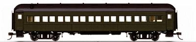 Rivarossi 60' Heavyweight Coach -- Unlettered, Painted Pullman Green - HO-Scale