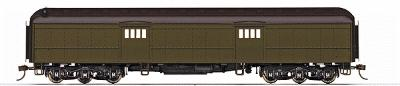 Rivarossi 60' Heavyweight Baggage Car -- Unlettered, Painted Pullman Green - HO-Scale