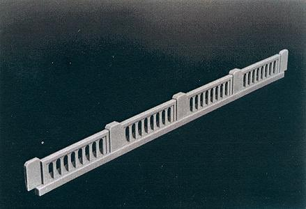 Rix Products 50' 1930's Railings (4) -- Model Railroad Building Accessory -- HO Scale -- #104