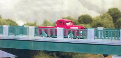 Rix Products 50' Wrought Iron Highway Overpass Railings (4) -- Model Railroad Bridge -- HO Scale -- #124