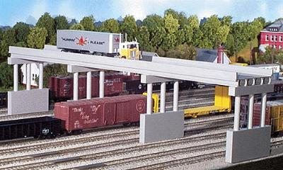 Rix Products 150' Modern Highway Overpass w/Piers (4) -- Model Railroad Bridge -- N Scale -- #163