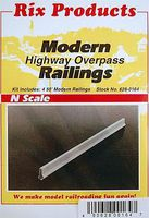 50' Modern Highway Railings (4) Model Railroad Bridge N Scale #164