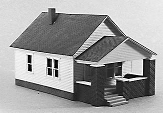 Rix Products 1 Story House w/Front Porch -- Model Railroad Building -- HO Scale -- #202