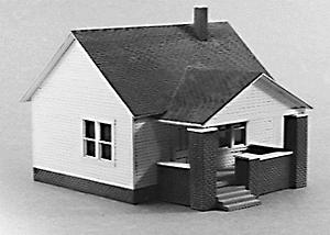 Rix Products 1 Story House w/Side Porch -- Model Railroad Building -- HO Scale -- #203