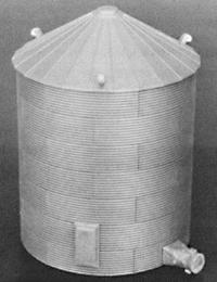Rix Products 30' Corrugated Grain Bin -- Model Railroad Building -- HO Scale -- #304