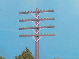 Rix Railroad Telephone Pole Crossarms Brown Model Railroad Trackside Accessory HO Scale #31