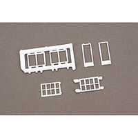 Rix Windows Assorted 6 Model Railroad Scratch Supply HO Scale #5411201541-1201