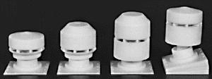 Rix Products Roof Vents for Industrial Buildings (8) -- Model Railroad Building Accessory -- HO Scale -- #610