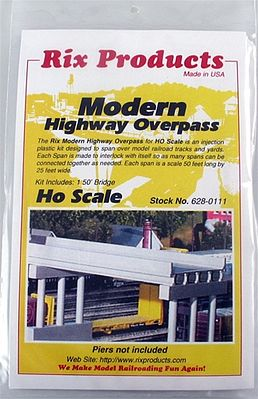 Rix Modern 50 Highway Overpass HO Scale Model Railroad Bridge HO Scale #6280111628-0111