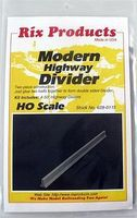 Rix Highway Divider (4) Model Railroad Road Accessory HO Scale #6280115628-0115