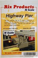 Rix Adjustable Overpass Pier Model Railroad Bridge N Scale #6280150628-0150
