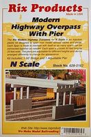 Rix Modern Highway Overpass with Pier Model Railroad Bridge N Scale #6280162628-0162