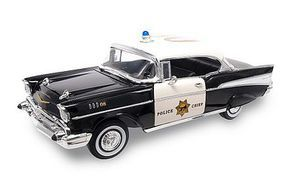 Road-Legends 1/18 1957 Chevrolet Bel Air Police Car (Black)