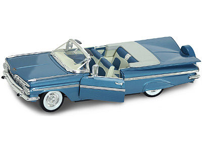 Road Legends 1959 Chevy Impala Convertible (Blue) -- Diecast Model Car -- 1/18 Scale -- #2118blu