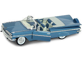 Road-Legends 1959 Chevy Impala Convertible (Blue) Diecast Model Car 1/18 Scale #2118blu