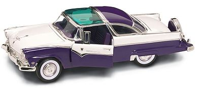 Road Legends 1955 Ford Crown Victoria (Purple) -- Diecast Model Car -- 1/18 Scale -- #2138pur