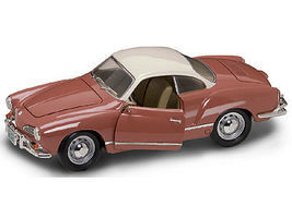 Road-Legends 1966 VW Karmann Ghia 2-Door Hardtop (Coral) Diecast Model Car 1/18 Scale #2198crl