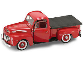 Road-Legends 1948 Ford F1 Pickup Truck (Red) Diecast Model Truck 1/18 Scale #2218red