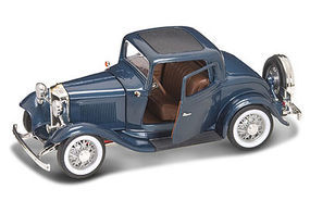 Road-Legends 1932 Ford 3-Window Coupe (Met. Blue) Diecast Model Car 1/18 Scale #2248blu