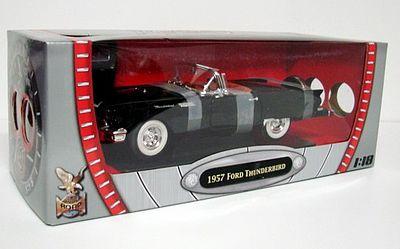 1957 Ford Thunderbird Black D Diecast Model Car 1 18