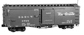 Rail-Line Denver & Rio Grande Western 30 Boxcar Kit HOon3 Scale Model Railroad Car #130