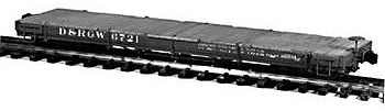Rail-Line Denver & Rio Grande Western 30 Idler Flatcar Kit HOn3 Scale Model Railroad Car #131