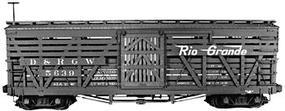 Rail-Line Denver & Rio Grande Western 30' Stock Car Kit HOn3 Scale Model Train Car #132