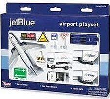 Realtoy International Jet Blue Airways Die Cast Playset (12pc Set) -- Toy Plane Toy Train Toy Car Toy Truck -- #1221