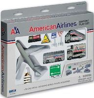 Realtoy American Airlines Airport Die Cast Playset (13pc Set)