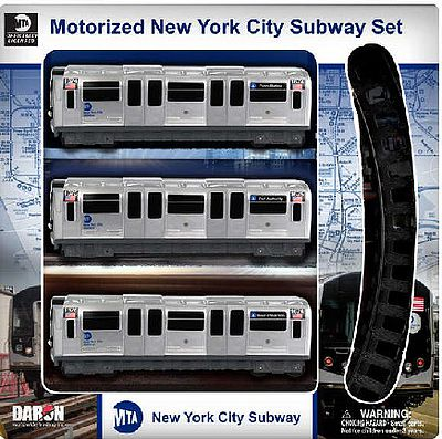 Realtoy International Motorized MTA New York City Subway Train Set (3 Cars & Track)