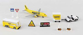 Spirit Airlines Airport Die Cast Playset (15pc Set)
