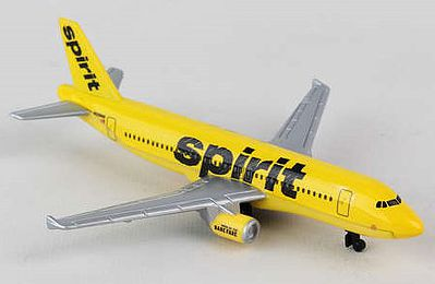 Realtoy International Spirit Airlines Airbus A320 (5'' Wingspan) (Die Cast)