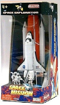 Realtoy Space Shuttle w/Booster & Astronauts Die Cast Playset