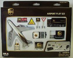 Realtoy UPS Airport Die Cast Playset (12pc Set)