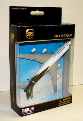Realtoy International UPS Cargo Airliner B747 (5'' Wingspan) (Die Cast)