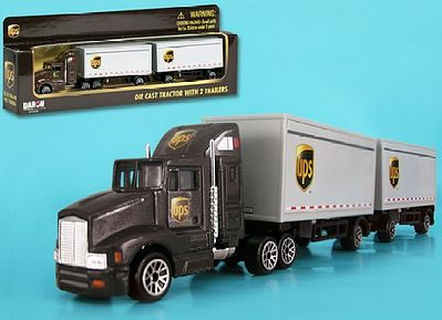 Realtoy International 1/87 UPS Tractor w/2 Trailers (Die Cast)
