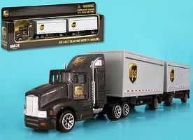 Realtoy 1/87 UPS Tractor w/2 Trailers (Die Cast)