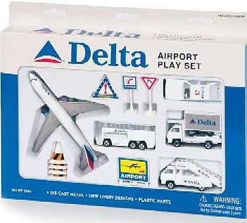 Realtoy Delta Airlines Die Cast Playset (12pc Set)